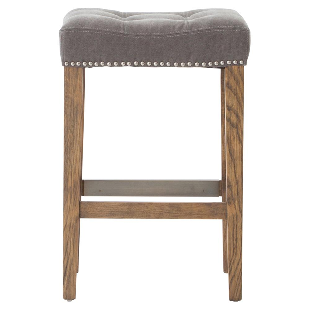 Milton Modern Classic Grey Tufted Nailhead Counter Stool  : product94181 from www.kathykuohome.com size 1000 x 1021 jpeg 60kB