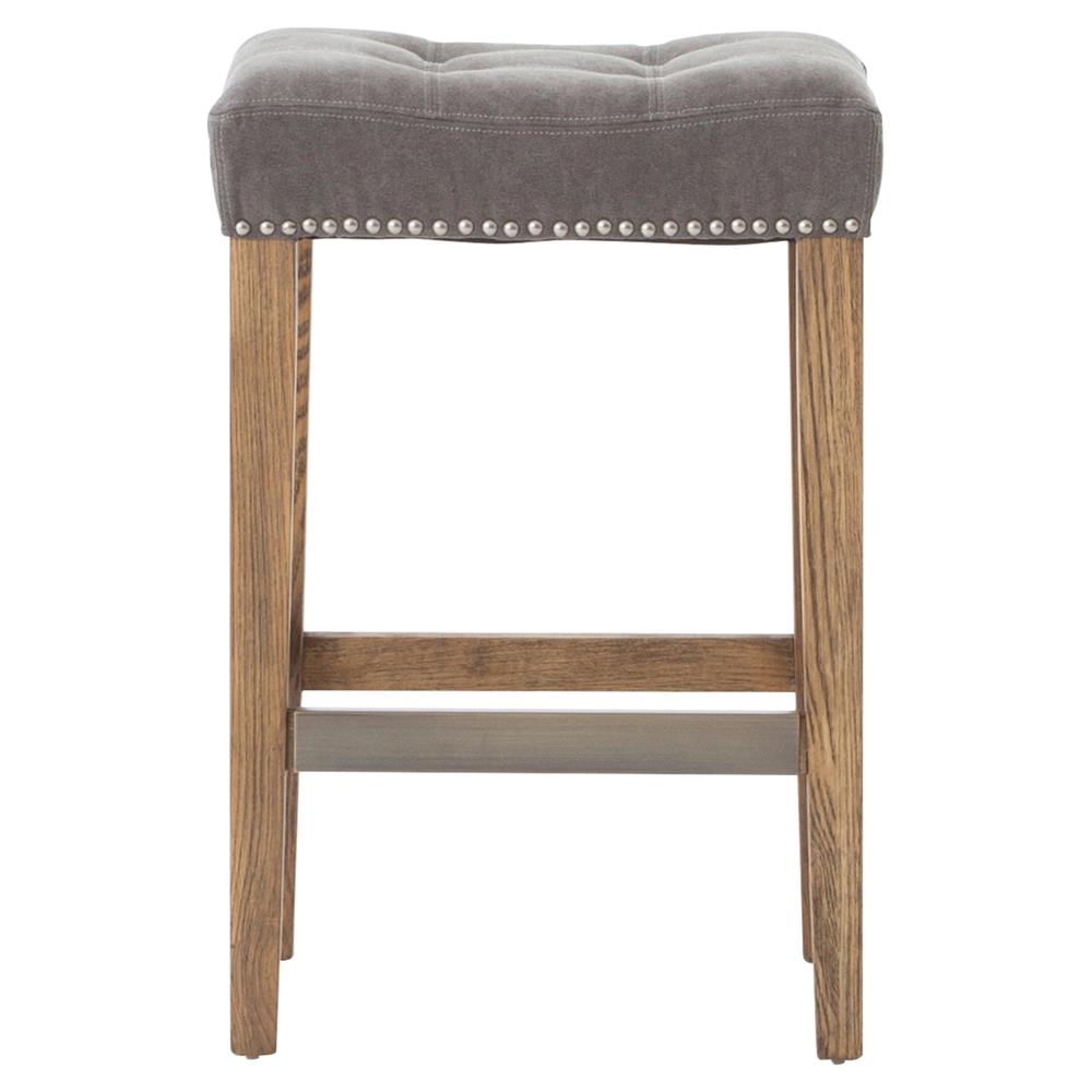 Milton Modern Classic Grey Tufted Nailhead Counter Stool  : product94182 from www.kathykuohome.com size 1000 x 1021 jpeg 59kB