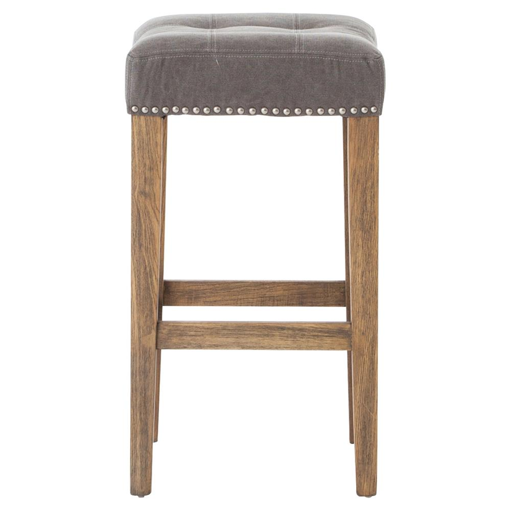 Milton Modern Classic Grey Tufted Nailhead Counter Stool  : product94183 from kathykuohome.com size 1000 x 979 jpeg 51kB