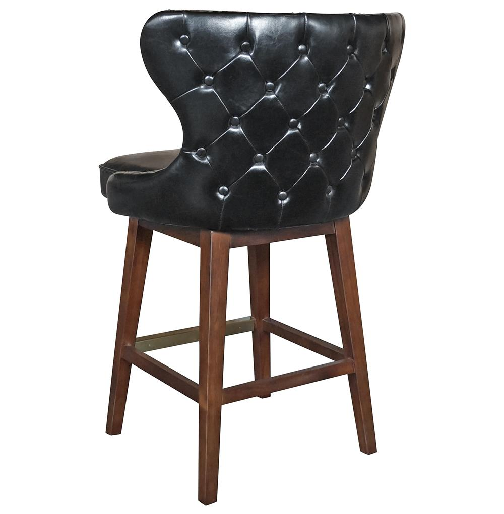 Dancy Masculine Black Leather English Tufted Swivel  : product94382 from www.kathykuohome.com size 1000 x 1021 jpeg 62kB