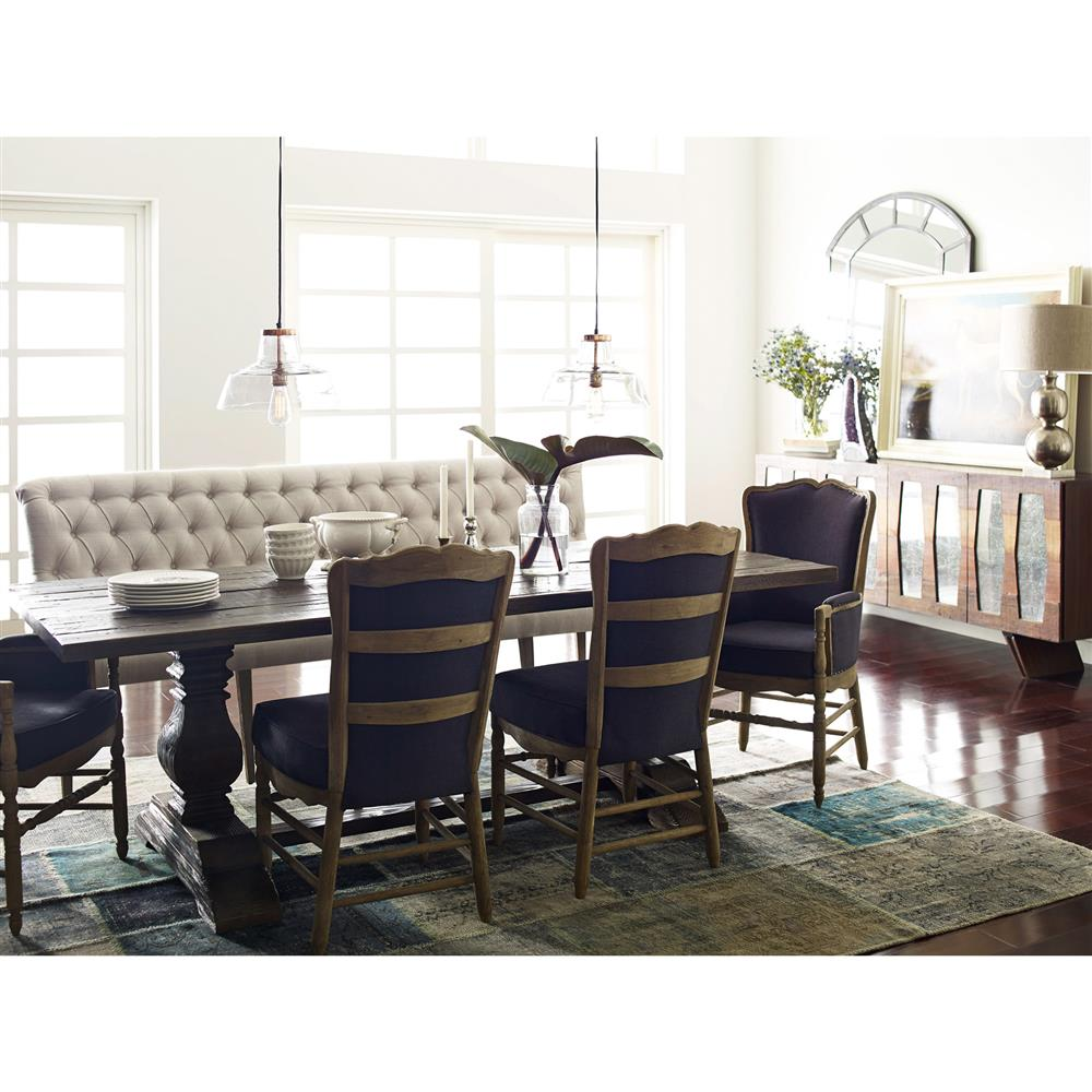 Genial ... Andrea French Country Tufted Sand Long Dining Bench Banquette | Kathy  Kuo Home ...