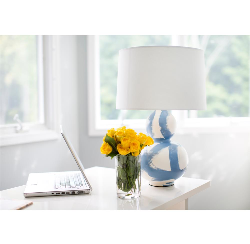 Hailey hand painted gourd shape brushstroke wedgewood blue table hailey hand painted gourd shape brushstroke wedgewood blue table lamp kathy kuo home view full size geotapseo Gallery