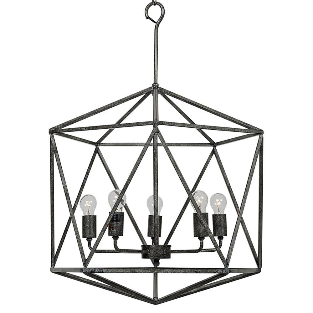 Industrial Tin Chandelier Industrial By Industriallightworks: Barkley Industrial Loft Geometric Metal Chandelier