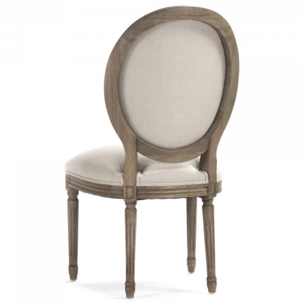 Oval back dining chair eastside country gray wool oval for White oval back dining chair