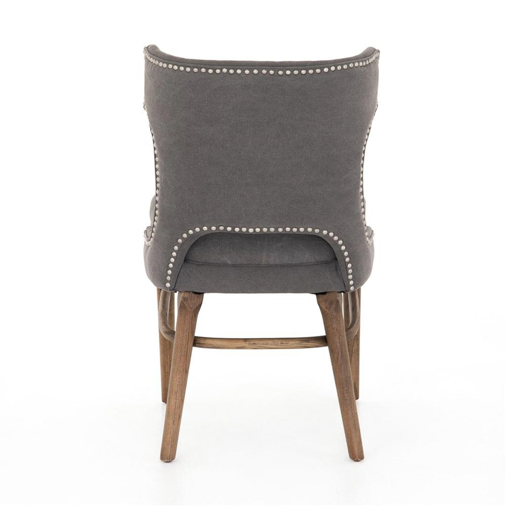 Greenwich Curved Back Charcoal Grey Canvas Dining Chair