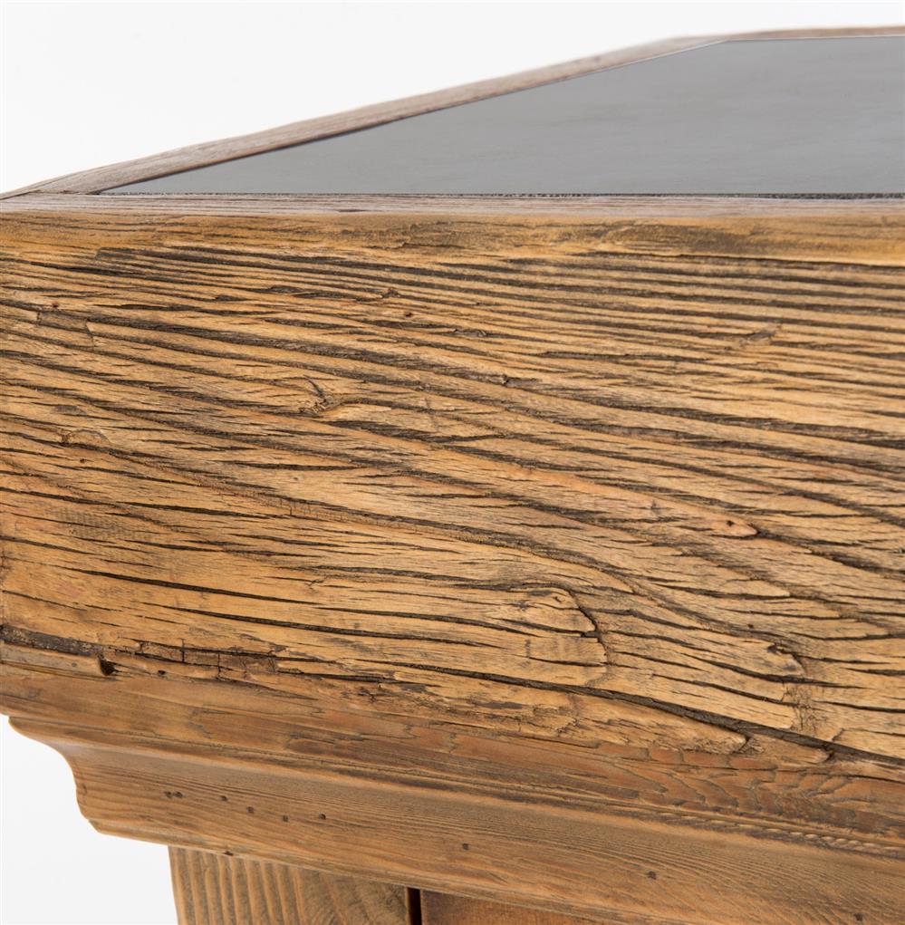 edison rustic lodge reclaimed wood stone top kitchen island