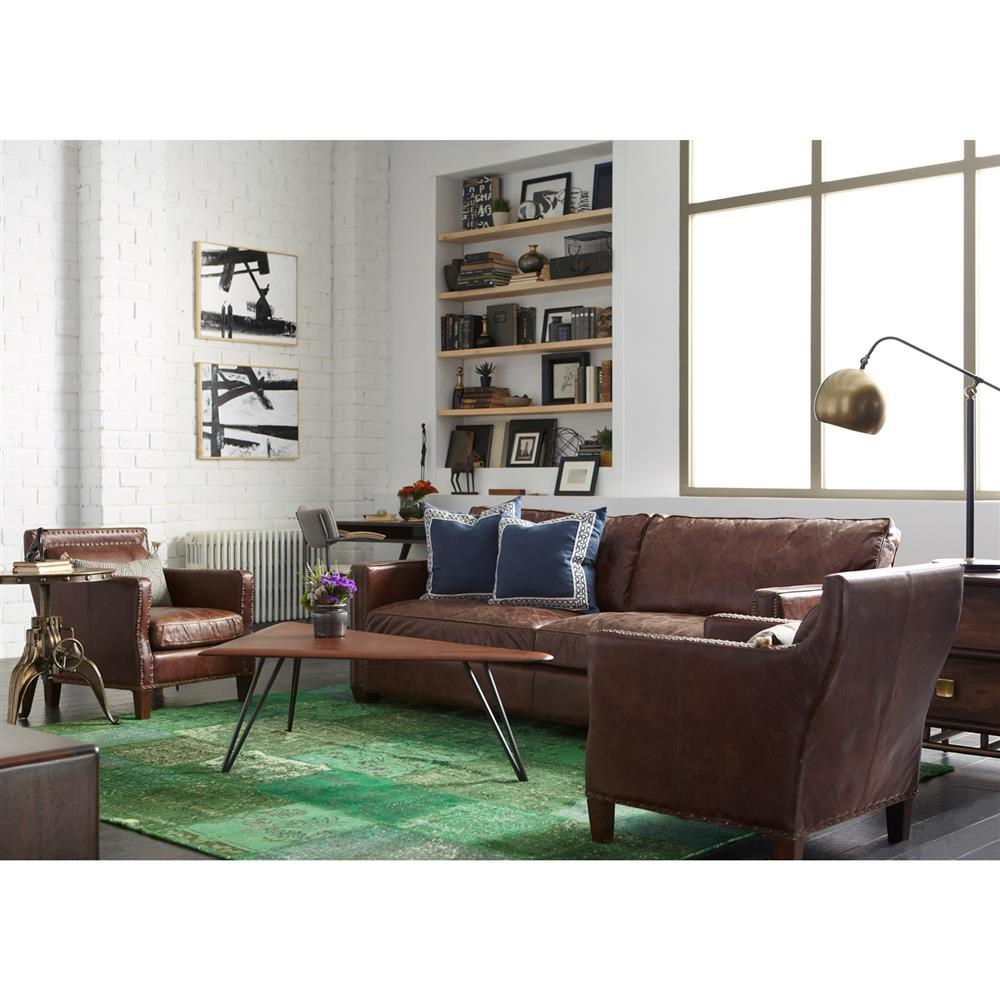 Rustic Masculine Bedrooms: Alcott Rustic Masculine Cigar Brown Leather Accent Club Chair