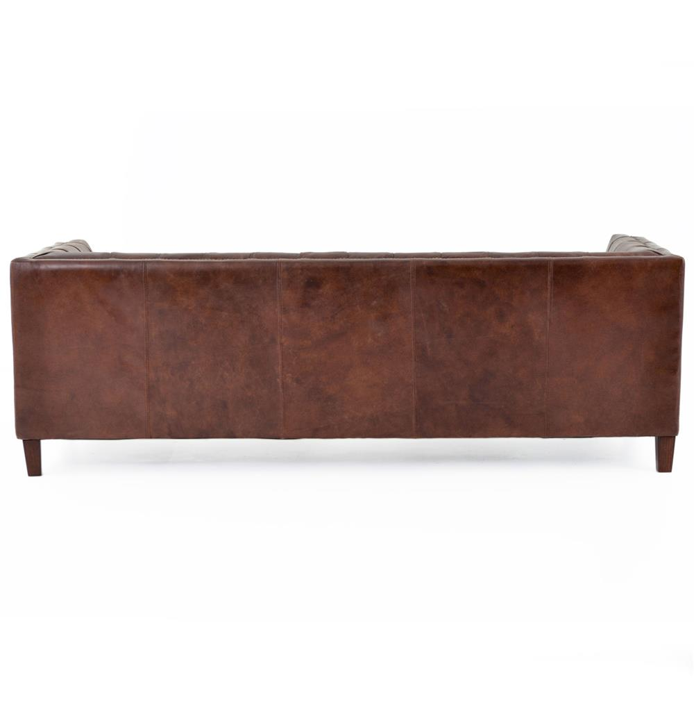 Christopher Rustic Lodge Tufted Straight Back Brown
