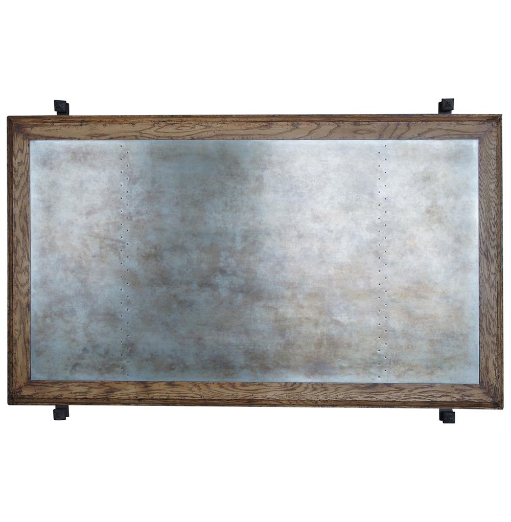 French Industrial Coffee Table: Beziers French Industrial Galvanized Steel Iron Coffee