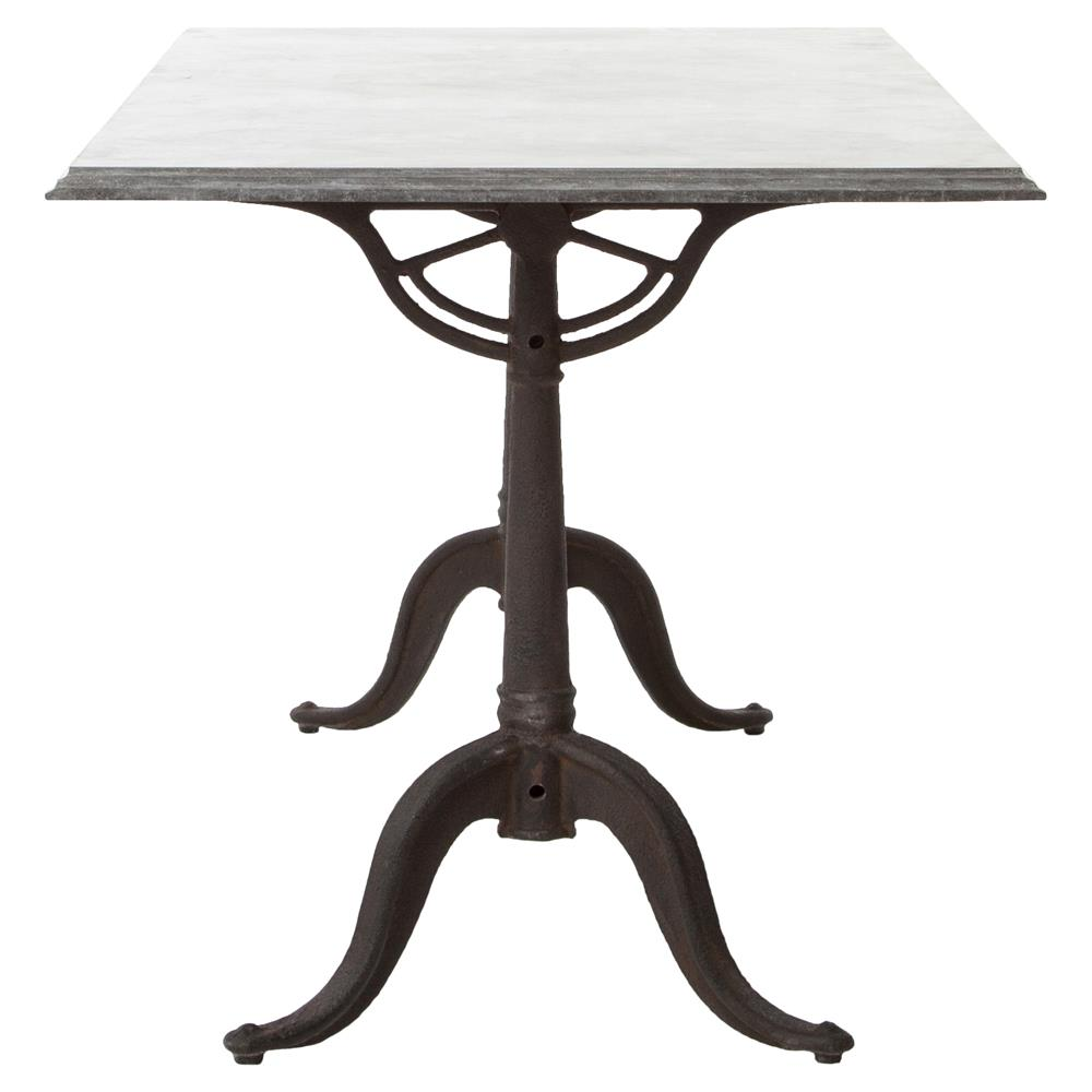 Pierre French Industrial Bluestone Bistro Dining Table - 64 Inch ...