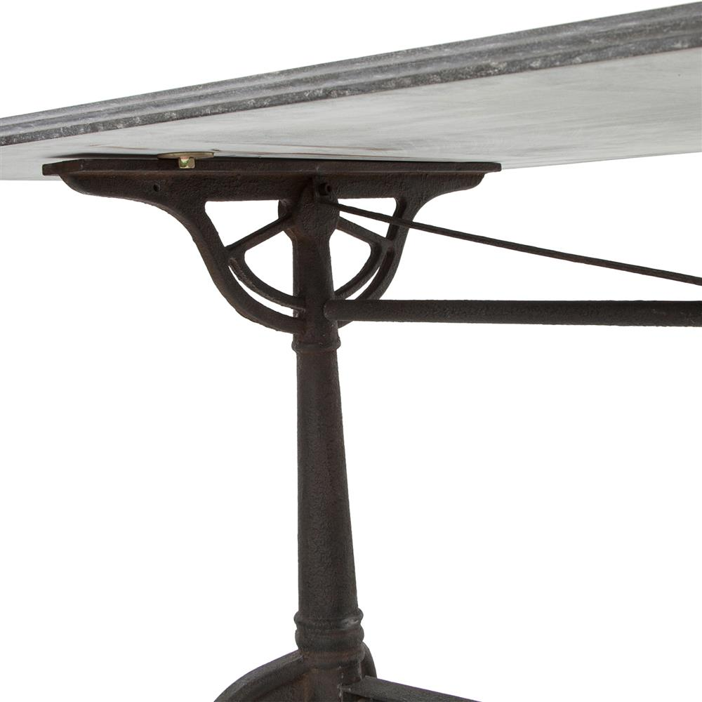 Pierre french industrial bluestone bistro dining table 64 inch kathy kuo home