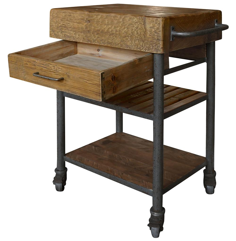 Kershaw Rustic Chunky Reclaimed Wood Iron Single Drawer