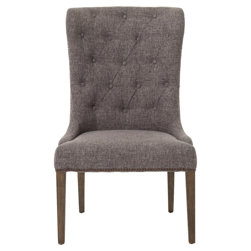 Luis French Charcoal Button Tufted Side Chair Kathy Kuo Home : product95601 from www.kathykuohome.com size 1000 x 1000 jpeg 85kB