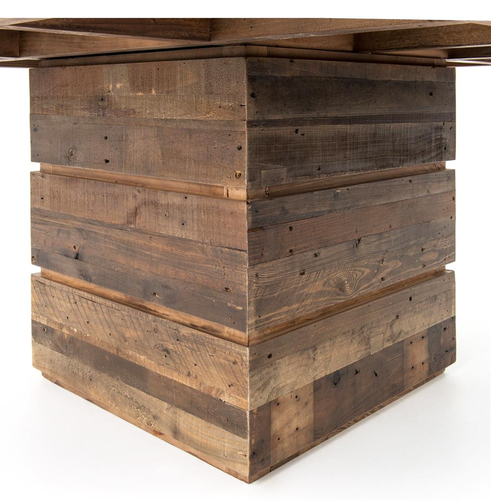 Hunter Rustic Lodge Chunky Reclaimed Wood Square Dining Table Kathy Kuo Home