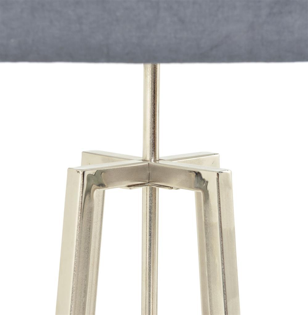 Melrose Modern Classic Silver Nickel Grey Shade Floor Lamp