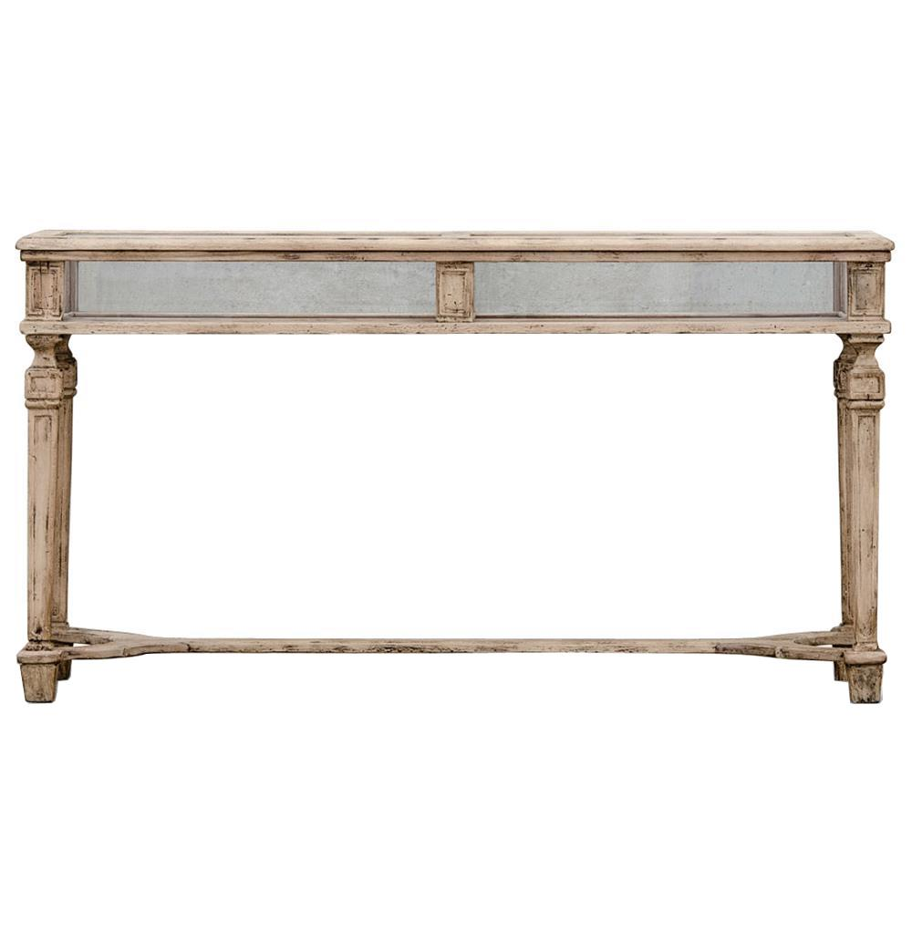 Amazing Calliope French Country Watchmakers Stand Glass Display Console Table |  Kathy Kuo Home · View Full Size ...