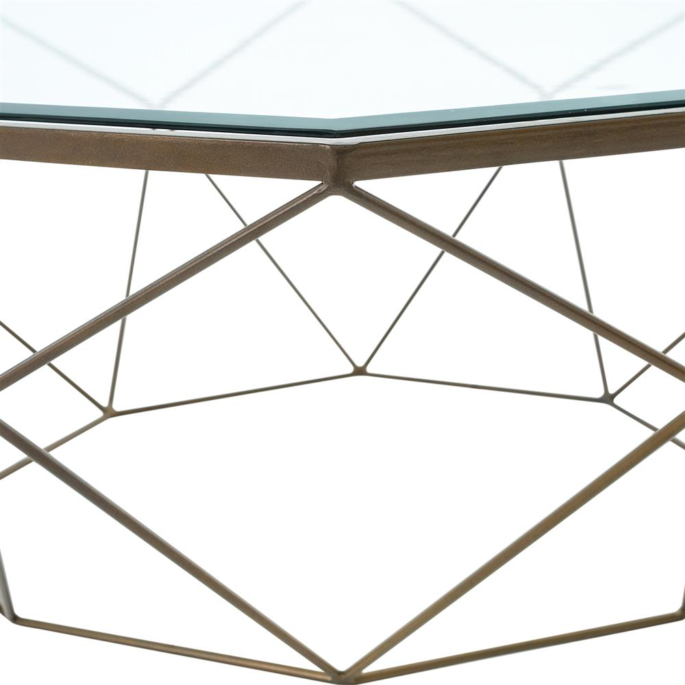 Superbe ... Dixon Geometric Modern Antique Brass Octagonal Coffee Table | Kathy Kuo  Home ...