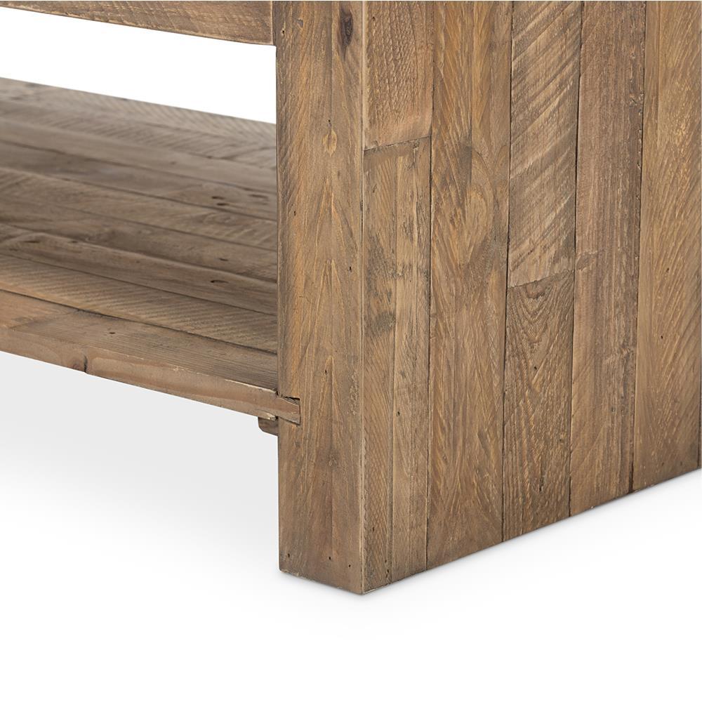 Wynn Modern Rustic Lodge Chunky Reclaimed Wood Rectangle