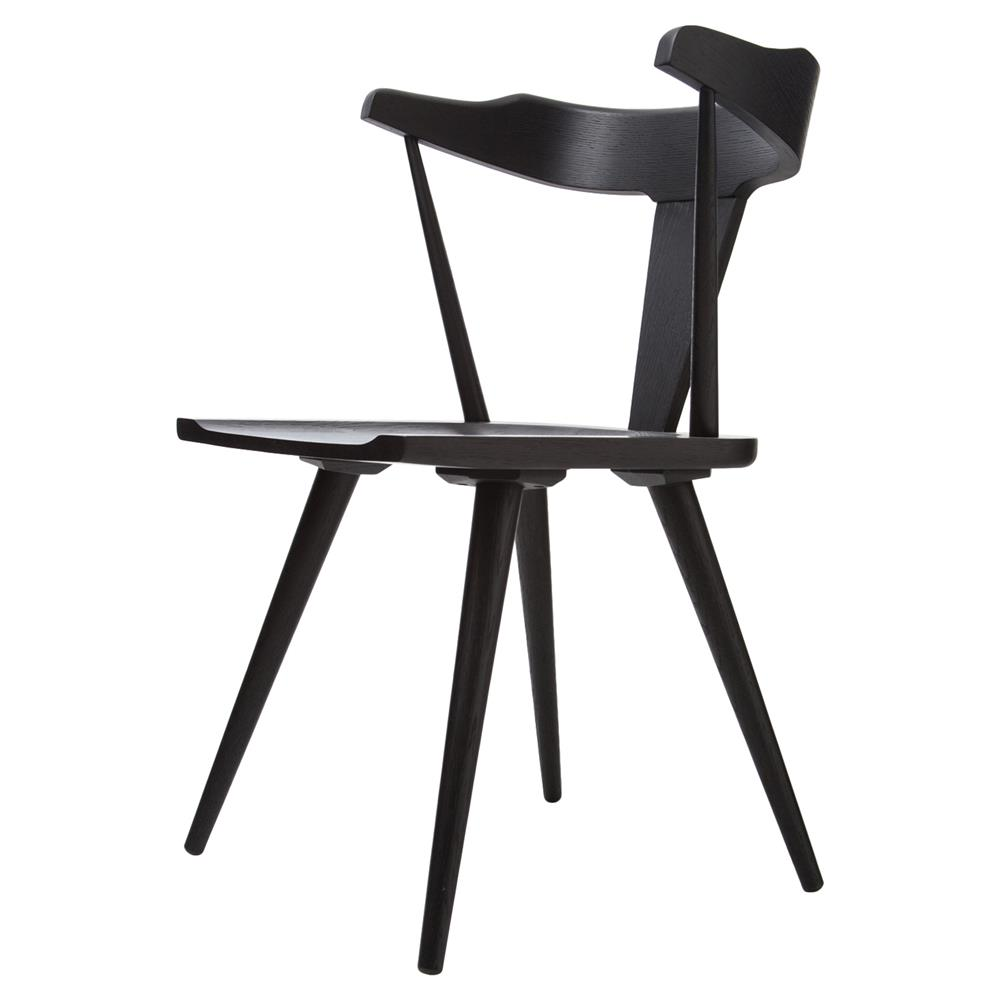 Tenly Mid Century Modern Black Oak Barrel Back Dining Chair Kathy Kuo Home