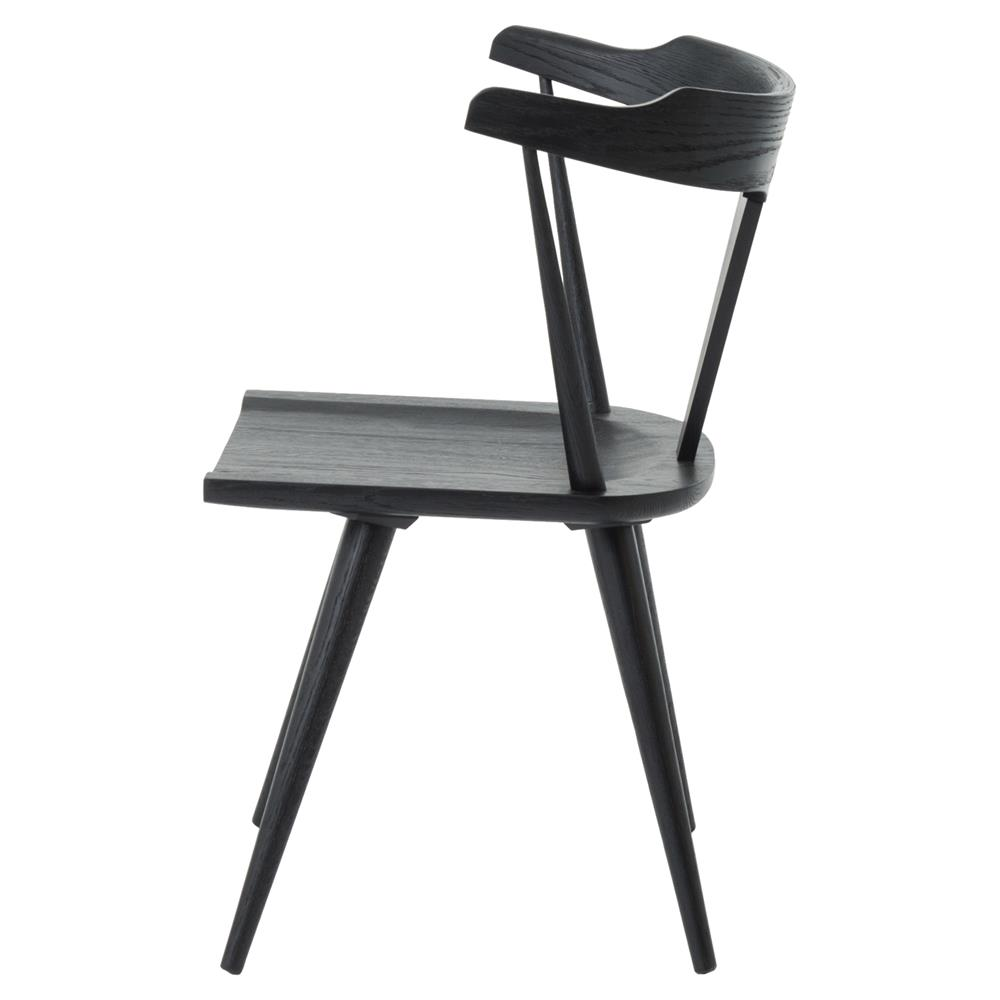 ... Tenly Mid Century Modern Black Oak Barrel Back Dining Chair   PAIR |  Kathy Kuo Home ...