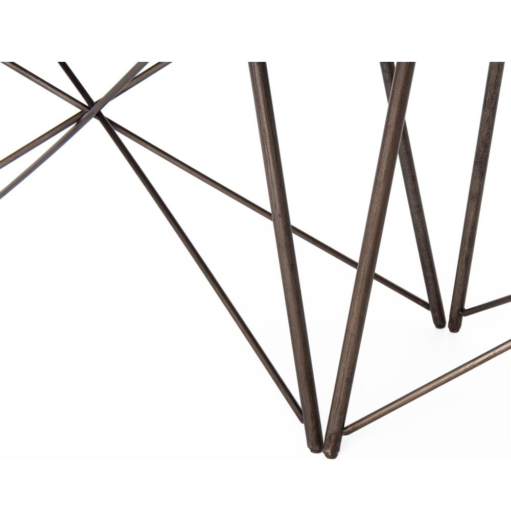 Franco Industrial Loft Geometric Large Aged Iron Dining Table