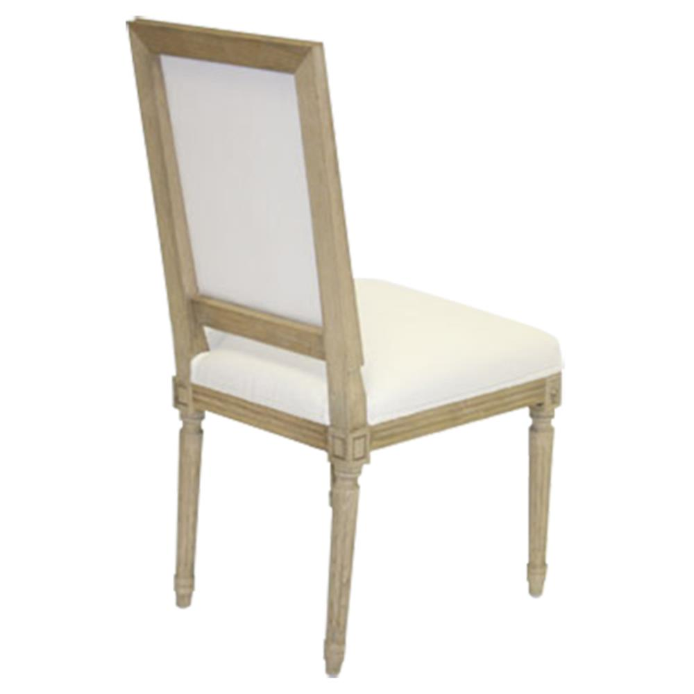 Pair Louis French Country White Cotton Dining Chair Kathy Kuo Home