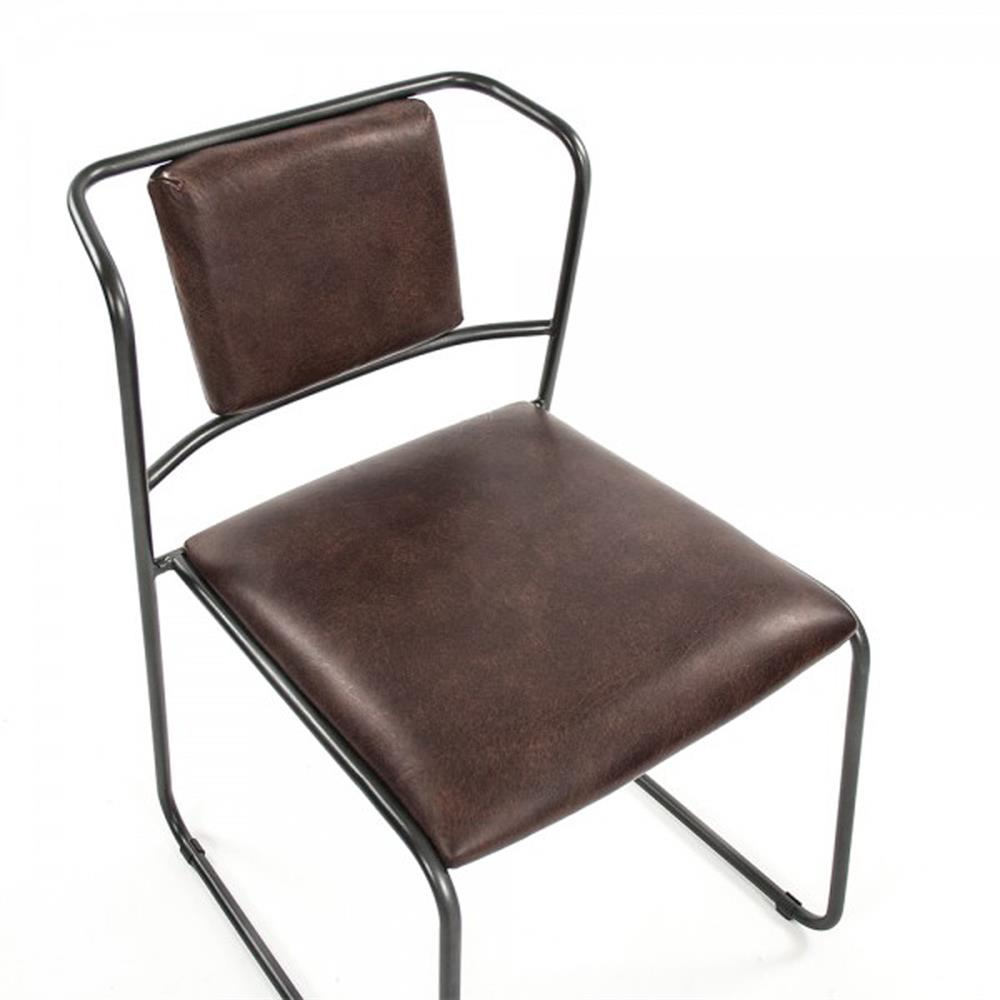 artemis mid century modern industrial rustic iron leather dining chair. Black Bedroom Furniture Sets. Home Design Ideas
