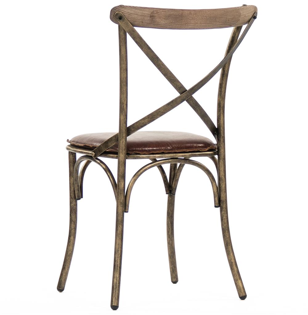 ... Kasson French Country Bronze Limed Grey Oak Leather Dining Side Chair |  Kathy Kuo Home ...