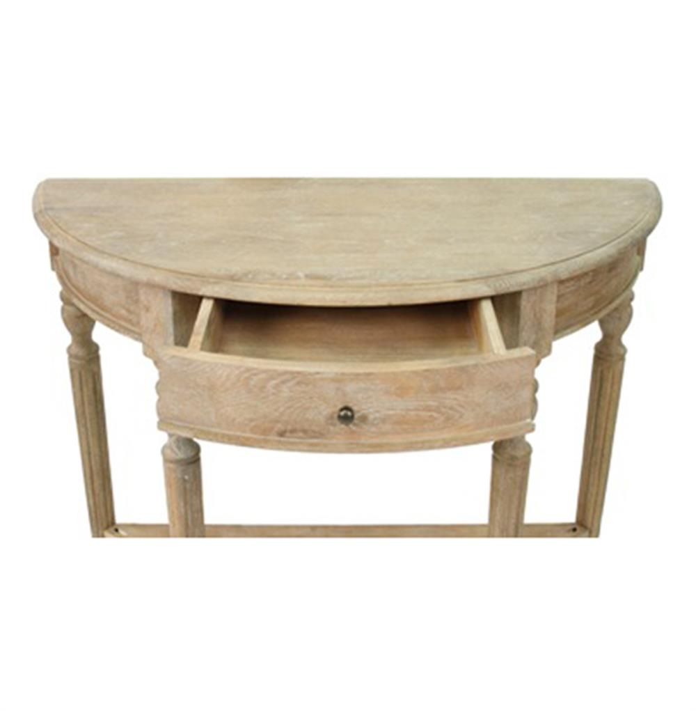 traditional french country style demilune console table