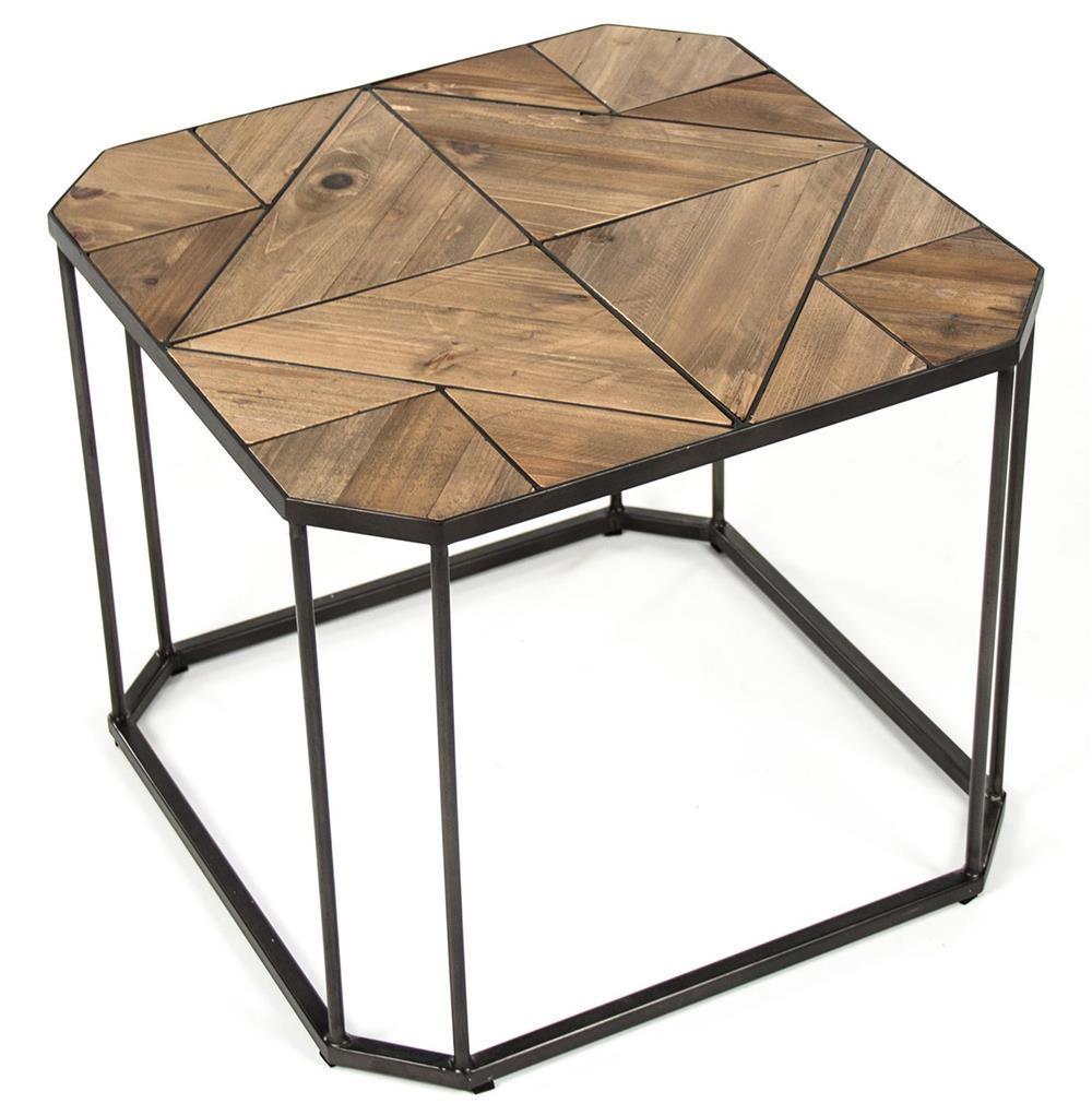 Kieran reclaimed wood parquet industrial iron long bench for Long side table