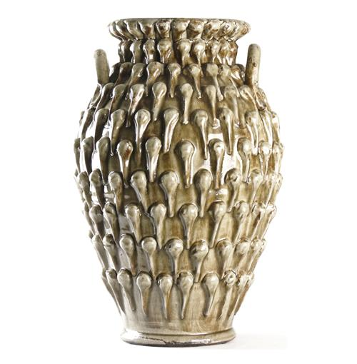 Amphora Textured French Country Urn Vase | Kathy Kuo Home
