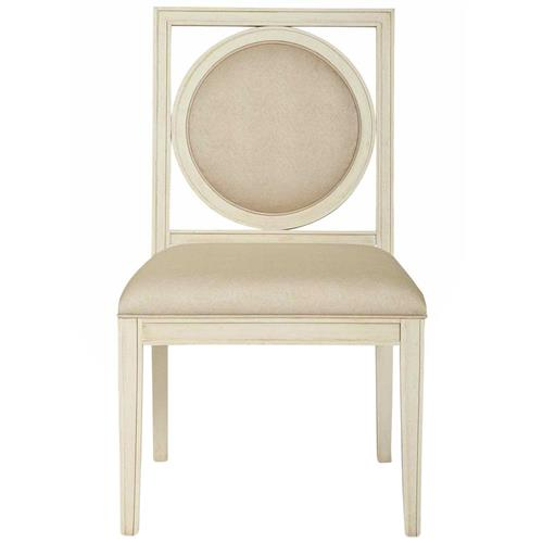 Oriana Modern Classic Upholstered Cream Wood Side Dining Chair | Kathy Kuo Home