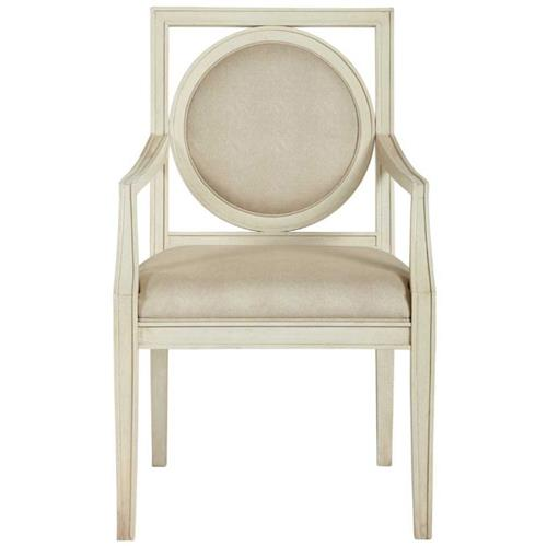 Oriana Modern Classic Upholstered Cream Arm Chair | Kathy Kuo Home