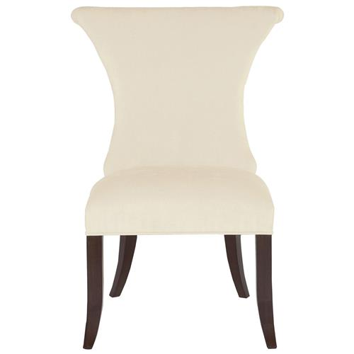 Crawford Modern Classic Ring Pull Ivory Side Chair | Kathy Kuo Home