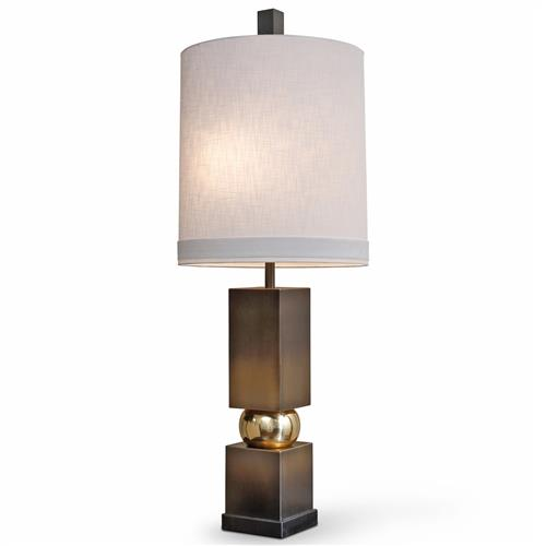 Bernadette Modern Classic Antique Bronze Brass Table Lamp | Kathy Kuo Home