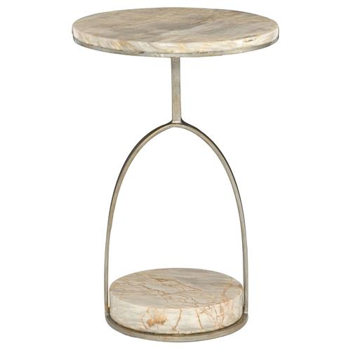 Geneva Modern Classic Round Marble Side End Table | Kathy Kuo Home