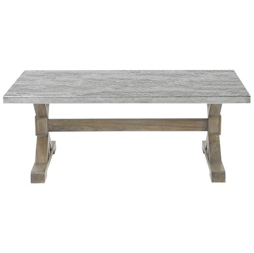 Lapo Industrial Loft Portobello Mindi Wood Coffee Table | Kathy Kuo Home