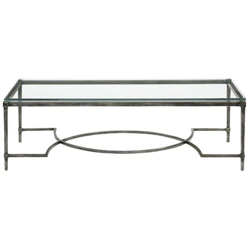 Rollins Industrial Loft Bronze Iron Coffee Table: Chase Industrial Loft Blackened Grey Iron Coffee Table