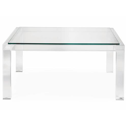 Francisco Hollywood Regency Acrylic Coffee Table | Kathy Kuo Home