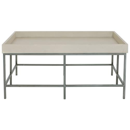Stefano Hollywood Regency Faux Shagreen Satin Steel Coffee Table | Kathy Kuo Home
