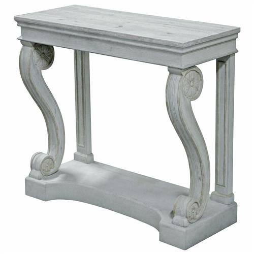 Gabin French Country Weathered Grey Wood Architecture Console Table | Kathy Kuo Home