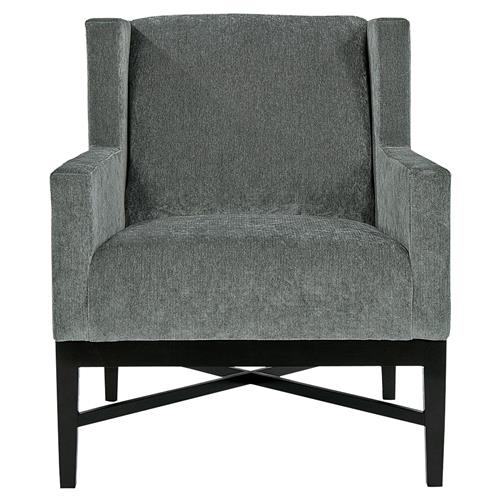 Hopper Modern Classic Mocha Wood Dark Grey Armchair | Kathy Kuo Home