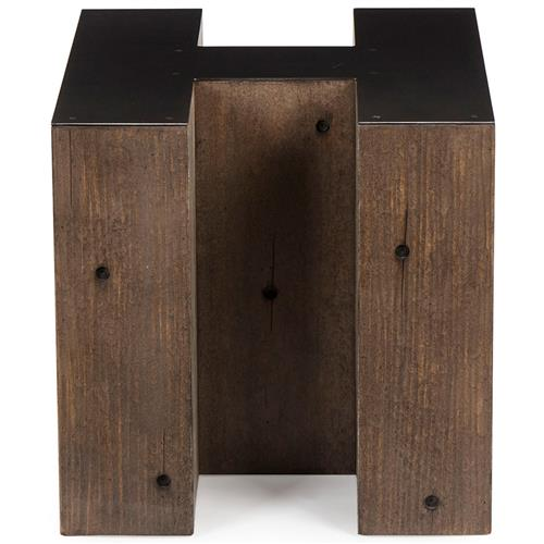 Bea Industrial Loft Alphabet Letter H Side Table | Kathy Kuo Home