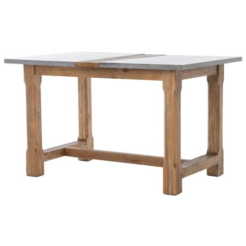 Caffet French Country Bluestone Natural Oak Dining Counter Table | Kathy Kuo Home