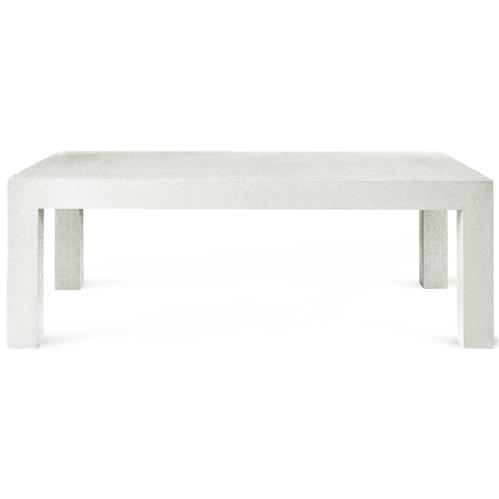Wynne Modern Classic White Lacquer Grasscloth Coffee Table | Kathy Kuo Home