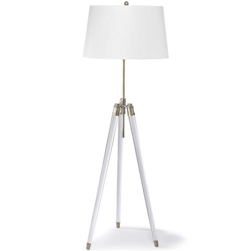 Hubble Modern Classic Acrylic Tripod Brass Floor Lamp | Kathy Kuo Home