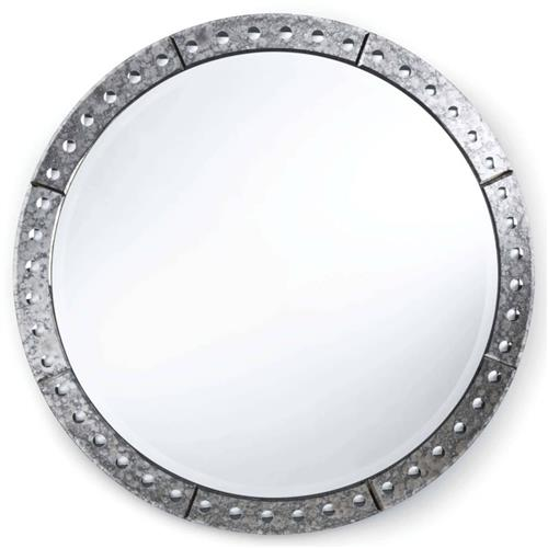 Regina Andrew Venetian Hollywood  Antique Silver Round Mirror - 42 Inch - 42D | Kathy Kuo Home