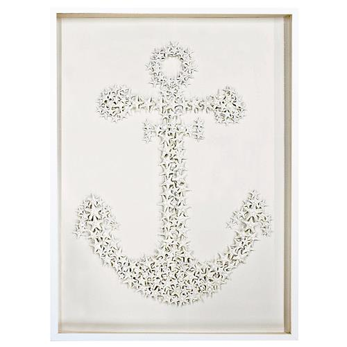 Sanibel Coastal Starfish Anchor Wall Decor - 26 Inch - Karen Robertson | Kathy Kuo Home