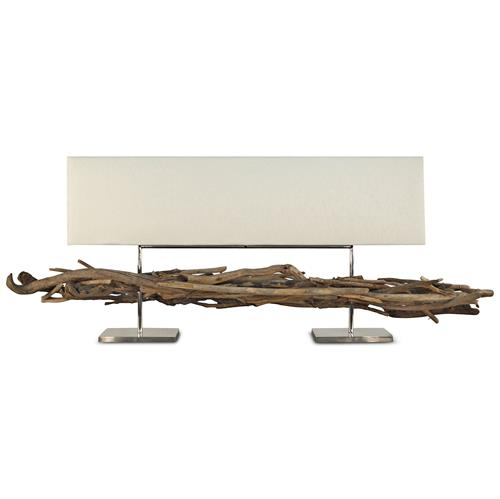 Harku Coastal Beach Driftwood Twig Steel 2 Light Table Lamp | Kathy Kuo Home