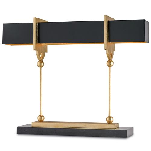 Hamilton Modern Classic  Gold Key  Black Table Lamp - 31.5 Inch | Kathy Kuo Home